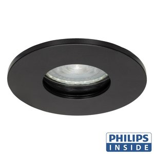 Philips GU10 LED Inbouwspot Elisa Zwart