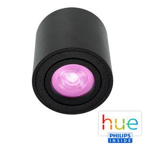 HUE Philips White & Color GU10 LED Opbouwspot Rome Zwart