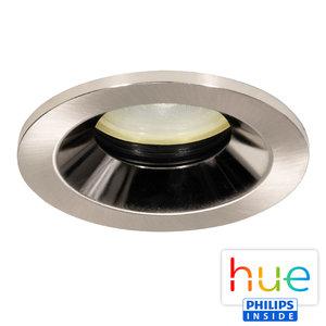 HUE Philips Ambiance GU10 LED Inbouwspot Lais Nikkel