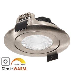 230 Volt Stijlvolle Design Inbouw LED Spot Dimbaar Nikkel