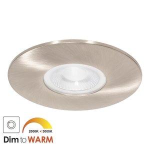 230 Volt Moderne Sfeervolle LED Inbouwspot Dimbaar Nikkel