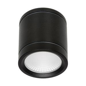 LED Opbouw Spot Zwart Dimbaar  Zonder Zichtbare Montage Schroeven