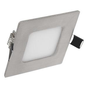 LED Inbouw Spot Dimbaar Badkamer Geschikt IP 44 Extra Warm Wit 2700 Kelvin 3 Watt vervangt 50 Watt Inbouw Diepte ↕ 25 mm Zilveren behuizing .