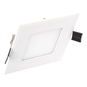 Extreem lage vierkante LED inbouwspot - 3 watt - wit - warm wit ...