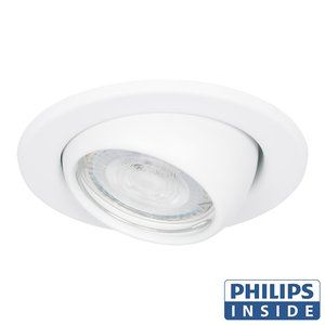 Philips Dim Tone LED Inbouw spot 4,9 watt kantelbare bol 50 mm rond wit