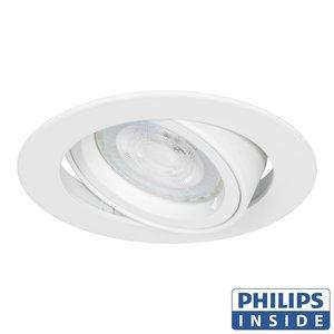 Philips LED Inbouw spot 4 watt rond wit kantelbaar modern