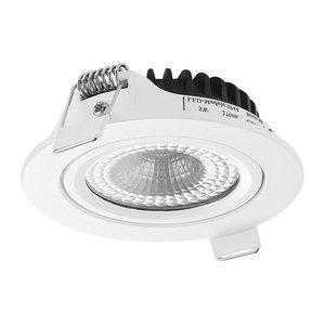 LED Inbouw Spot Dimbaar Badkamer Geschikt IP 44 Extra Warm Wit 2700 Kelvin 5 Watt vervangt 75 Watt  Inbouw Diepte ↕ 23 mm   Witte behuizing. | Geen trafo nodig.