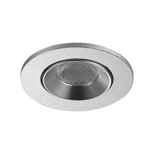 LED Inbouw Spot Dimbaar Badkamer Geschikt IP 44 Extra Warm Wit 2700 Kelvin 3 Watt vervangt 50 Watt Inbouw Diepte ↕ 35 mm Zilveren behuizing.